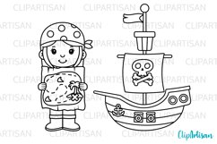 Pirate Clip Art, Pirates, Pirate Digital Stamps Product Image 2