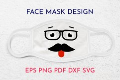 Face mask designs. Smile face. SVG Product Image 1