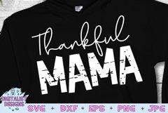Thankful SVG   Mom SVG   Thankful Mama   Thanksgiving SVG Product Image 1