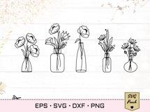 Wildflowers in vases bundle SVG set Product Image 4