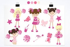Cheerleaders graphics and illustrations Product Image 2