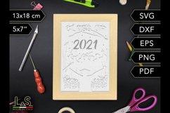 3D Layered Graduation Shadow Box svg, Light Box Template Product Image 6