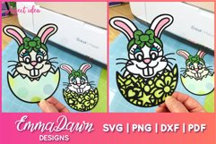 BETTY THE EASTER BUNNY SVG, 2 MANDALA / ZENTANGLE DESIGNS Product Image 2