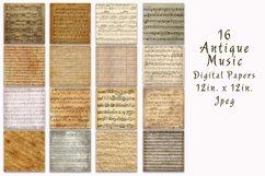 Antique Music Digital Paper Product Image 2