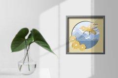 Paper cut| Layered papercut| Bee Honey papercut Product Image 2