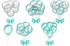 Turquoise Balloon Clipart Product Image 3