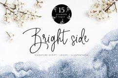 Bright side signature script font logos Product Image 1