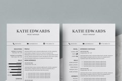 Resume | CV Template Cover Letter - Katie Edwards Product Image 6