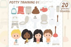 Cute POTTY training clipart, Education clip art, Poop Product Image 1