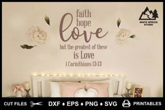 Faith Hope Love SVG & Printable, Bible, 1 Corinthians 13-13 Product Image 9