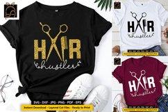 Hair Hustler - Hairdresser - Hairstylist SVG DXF EPS PNG Product Image 1