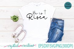 He is risen SVG, DXF, EPS, PNG 300dpi Product Image 1