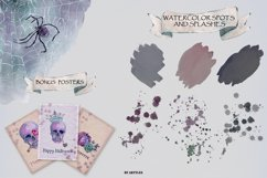 Watercolor skull with flowers Product Image 2