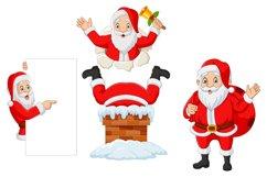 Set of Seven Cartoon Santa Claus Product Image 3