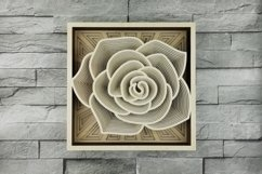 Layered Mandala SVG, Cut file Mandala, Layered Flower, Rose Product Image 1