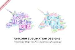 Unicorn Sublimation Designs Product Image 1