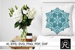 3d Layered Snow Mandala - SVG Product Image 3