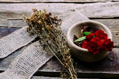 Herbs and red roses Product Image 1
