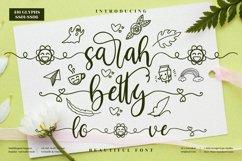 sarah betty - Beautiful Script Font Product Image 1