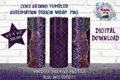 FULL WRAP 20oz Skinny Tumbler Sublimation Design PNG Bundle Product Image 1