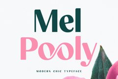 Mel Pooly - Modern Chic Typeface Product Image 1