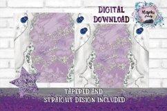 Full Wrap Purple 20oz Skinny Tumbler Sublimation Design Product Image 2