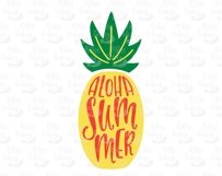 Aloha Summer. Silhouette of pineapple. SVG, EPS, DXF, PNG. Product Image 2