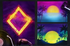 80s Retro Watercolor backgrounds. Product Image 3