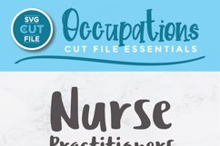 Nurse practitioner svg - an NP svg with heart for crafters Product Image 2