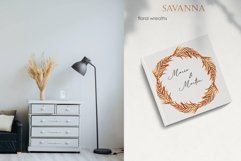 Savanna dried flowers and leaves Watercolor Product Image 10