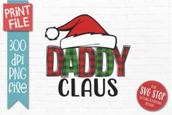 Daddy Claus Christmas Sublimation PNG Product Image 1