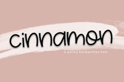 Cinnamon - A Fun & Quirky Font Product Image 1