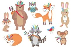 Tribal Woodland Animals Clipart Product Image 3