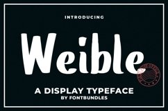 Web Font Weible Product Image 1