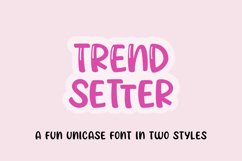Trendsetter - a unicase craft font   Two styles Product Image 1