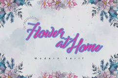 Flower at Home| A Fancy Display Script Product Image 4