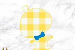 Plaid Boy Easter Chick SVG Product Image 2