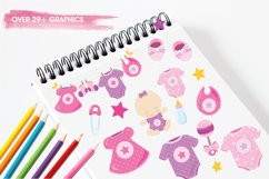 Baby Girl graphics and illustrations Product Image 3