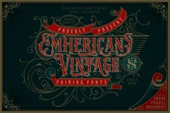 NS Emnhericans Vintage Pairing Fonts Product Image 1