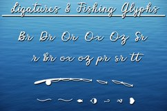 Fisherman Script - A Fun Script Font with Fishing Extras Product Image 5