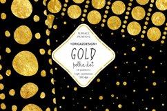 Gold foil Polka dot Black Seamless Pattern Product Image 4