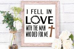 I fell in love svg Jesus svg Easter svg Christian cut file Product Image 3