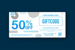 Promo code. Vector Gift Voucher with Coupon Code. Product Image 1