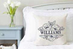 wedding monogram frame with peony flower Cricut SVG cut file Product Image 2