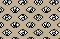 5 Seamless patterns set with different eyes Product Image 8
