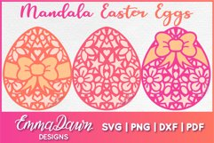 MANDALA EASTER EGGS SVG 3 MANDALA / ZENTANGLE DESIGNS Product Image 1