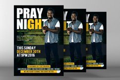 Prayer Night Church Flyer Psd Product Image 2