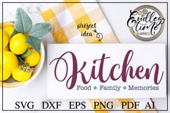Kitchen Food Family Memories - A Horizontal Kitchen Sign SVG Product Image 1