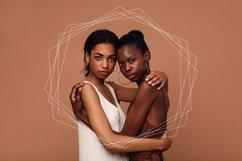 20 White Geometric Frames | Logo | Invitation | Christmas Product Image 5