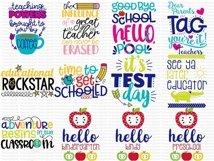 Teacher Sentiments - SVG, Clipart Printables - 39 Designs Product Image 2